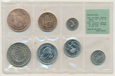 New Zealand: 1965 Green label ½d to 2/6 Selected UNCIRCULATED Set