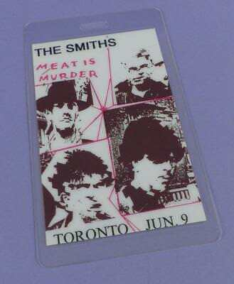 The Smiths - Meat is Murder Original Laminated Backstage Pass Toronto 1985