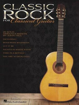 Classic Rock for Classical Guitar TAB Music Book The Beatles Eagles Queen Boston