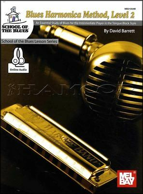 Blues Harmonica Method Level 2 Sheet Music Book/Audio Learn How To Play