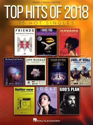 Top Hits of 2018 Piano Vocal Guitar Sheet Music Book Solo Havana IDGAF Gods Plan