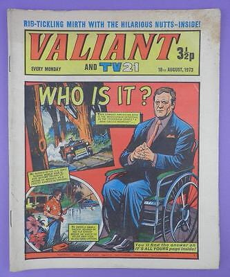 Valliant And TV21 Comic 18th August 1973, Raymond Burr, Ironside On Cover