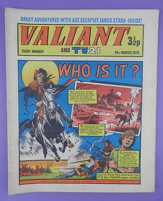 Valliant And TV21 Comic 24th March 1973, Paul Revere On Cover