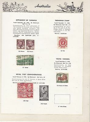 AUSTRALIA 1953-4  Coll. GOOD/FINE USED Stamps removed for post.