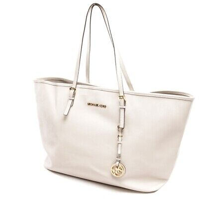 Michael Kors Comprador Blanco Bolso Mujer Jet Set Bag Bolsa Sac Purse