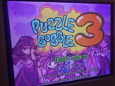 Jamma Pcb F3 Puzzle Bobble 3 , Version Europa , Original