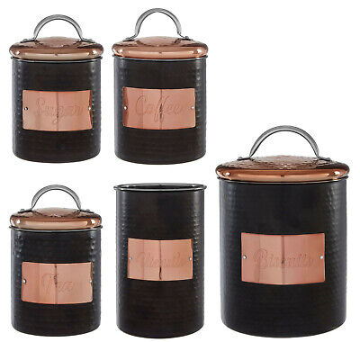 Metal Tea Coffee Sugar Canisters Kitchen Storage Canister