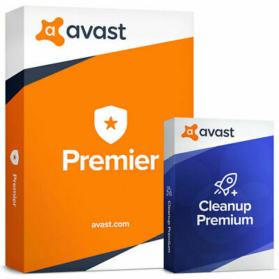 Avast Premier 2019 (10 PC's) Antivirus with Cleanup Premium 2019 (20 Years)