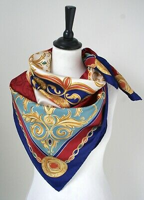 Givenchy Silk Scarf - Jewel print baroque - Blue / Red - Large