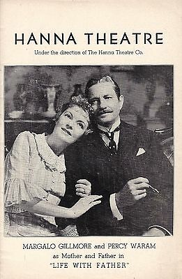 """Margalo Gillmore """"LIFE WITH FATHER"""" Percy Waram 1941 Cleveland, Ohio Playbill"""