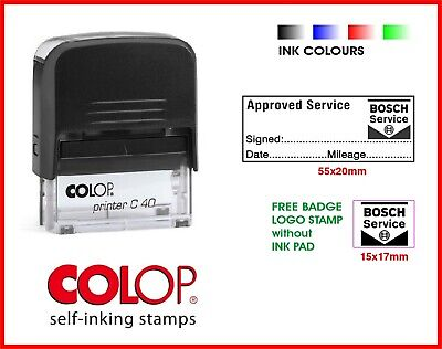 COLOP Printer Self Inking Rubber SPECIALIST SERVICE Jaguar-Land Rover Lot Manual