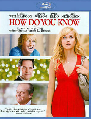 How Do You Know (Blu-ray, 2010) NEW