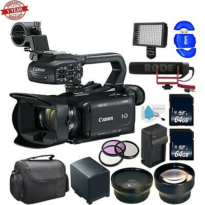 Canon XA11 Compact Full HD Camcorder with External Rapid Charger Bundle