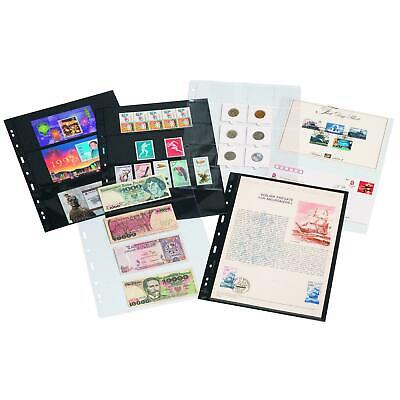 Lighthouse Grande Large Album Banknote Stamps Certificate Pages Black Clear ZWL