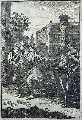 """1685 Gomberville Emblematica - """"Man is not to love"""" - engraving"""