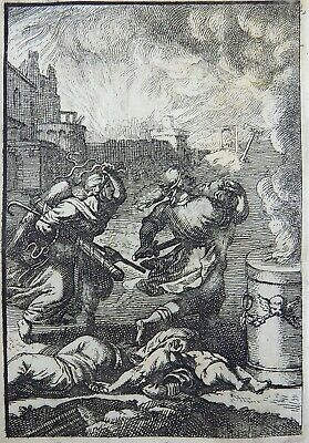 """1685 Gomberville Emblematica - """"Science leads to Punishment"""" - engraving"""