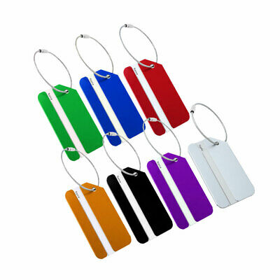 Metal Travel Luggage Tags Luggage Identifier Suitcase Name Holder Address Label