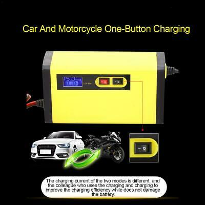 Full Auto Car Motorcycle Battery Charger 12V 5A LCD Smart Fast Power Charging UK