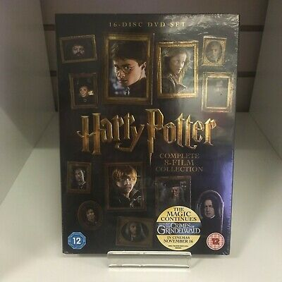Harry Potter Complete 8-Film Collection DVD Years 1-7 16 Disc Set - New & Sealed