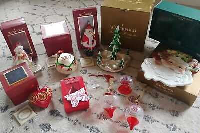 LOT OF WATERFORD CRYSTAL CHRISTMAS HOLIDAY HEIRLOOMS MARQUIS santa tree ball