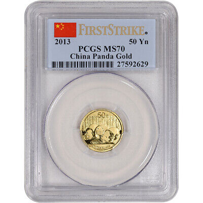 2013 China Gold Panda (1/10 oz) 50 Yuan - PCGS MS70 - First Strike