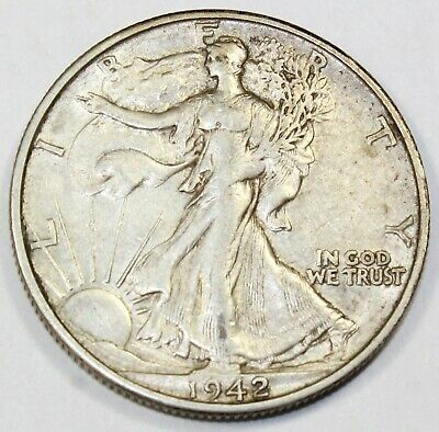 1942-S United States Walking Liberty Half Dollar - XF Extra Fine Condition
