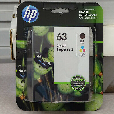 NEW HP 63 Combo 2Pack Ink Cartridges Black and Color GENUINE
