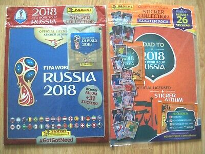 Panini Russia 2018 World Cup Starter Pack/ Road To Russia Albums,stickers