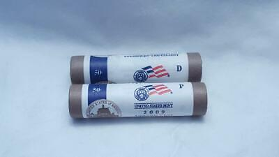 2009 P & D US Mint Wrapped Lincoln Cent Penny Rolls - Presidency Years - 2 Rolls