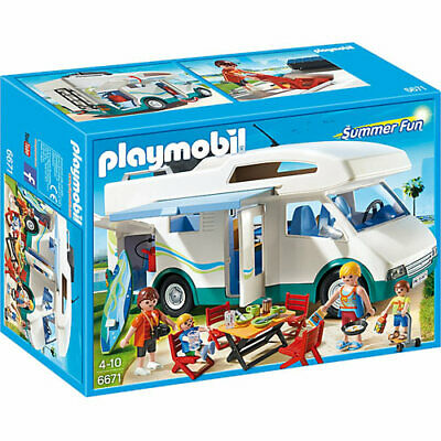 PLAYMOBIL Summer Camper Van - Summer Fun 6671 DAMAGED B*