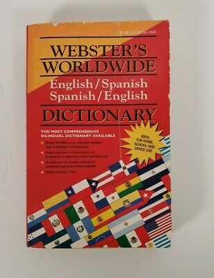 Webster's WorldWide English/Spanish Spanish/English Dictionary Pre-Owned