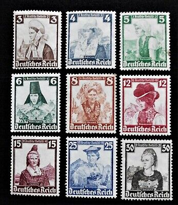 GERMANY- THIRD REICH 1936 Regional Costumes Short Set of 9 - MLH