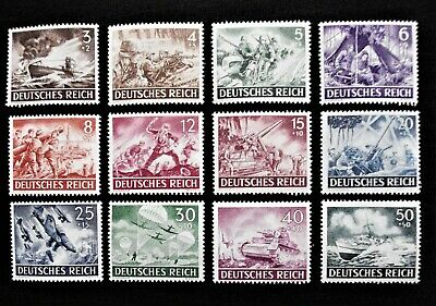 GERMANY- THIRD REICH 1943 Full Set of 12 - ARMED FORCES DAY - MNH