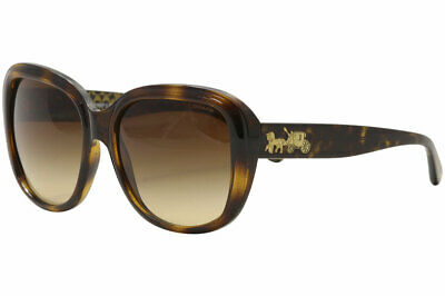 b91eb4addb544 Coach HC8207 HC 8207 539413 Dark Tortoise Gold Signature Square Sunglasses  57mm