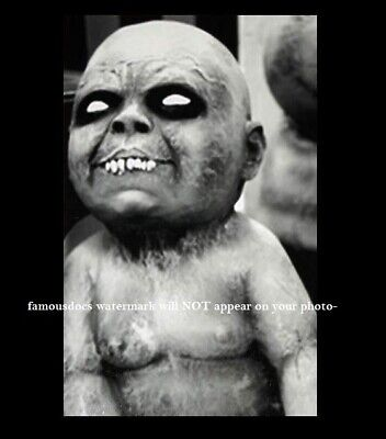 Vintage Devil Baby Freak Demon PHOTO Scary Demon Child Creepy Weird