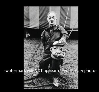 Vintage Freak Midget Circus Act PHOTO Creepy Clown Mask Popeye, Scary Man Weird