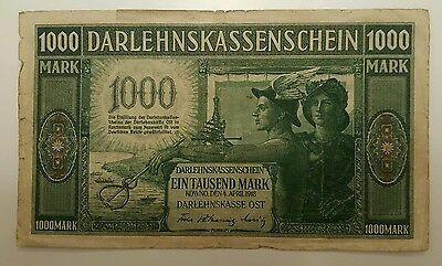 GERMANY 1000 Mark 1918   #R - 134  -  Occupation Of Lithuania WWI - KOWNO 1918