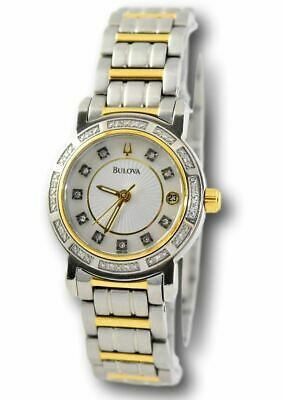 Bulova 98R104 Women's Diamond Two-Tone Watch Mother of Pearl Stainless Watch