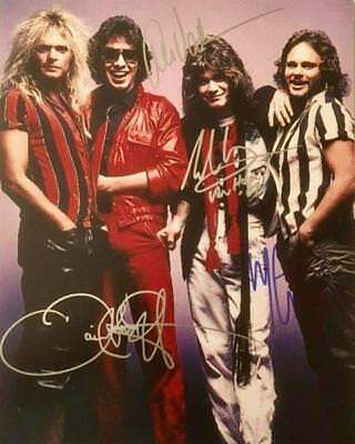 REPRINT - VAN HALEN Autographed Signed 8 x 10 Photo Poster RP David Lee Roth