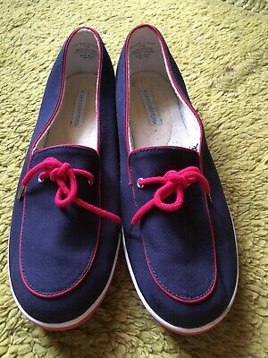 475d31df158724 Grasshoppers Size 10 Red White Blue Slide On Mule Boat Shoes Patriotic Cute