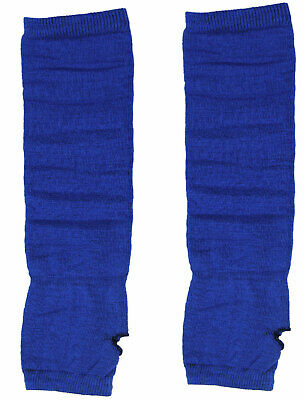 Woman Fingerless Tumbhole Elbow Length Knitted Arm Warmers