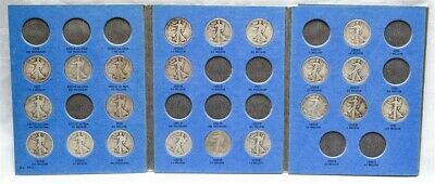 1916-1936 Walking Liberty Half Dollar Album Set - 21 Silver Coin Collection