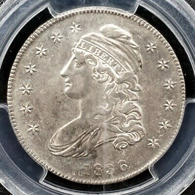 1836 Capped Bust Half Dollar, Overton O-101a - PCGS AU50 - lettered Edge