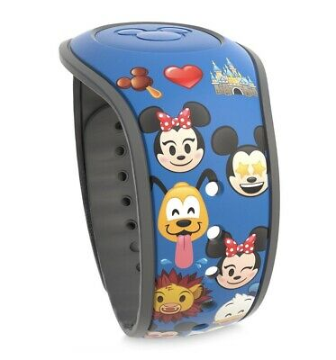 Disney Parks Magic Band Emoji Blue Magicband 2 New Mickey Minnie Simba Pluto Etc