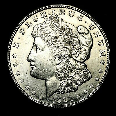 1921 S ~**ABOUT UNCIRCULATED AU++**~ Silver Morgan Dollar Rare US Old Coin! #M26