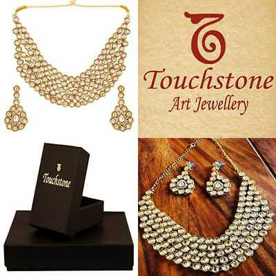 """Touchstone""""Contemporary Kundan Collection"""" Indian Bollywood Clear Polki Bridal J"""