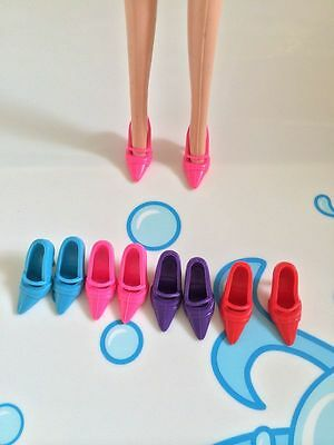 42Pairs Four Color Sandals Doll Shoes For 11.5in Dolls High Heels Sandals