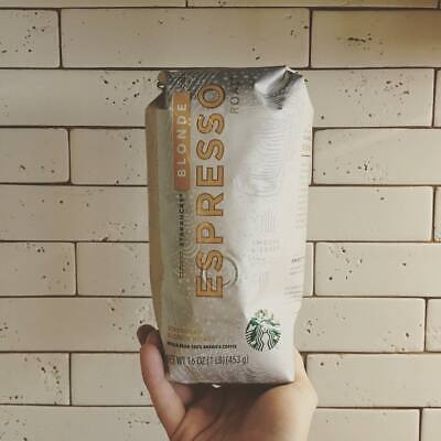 Brand New Starbucks Whole Beans Coffee 1lb 16 Oz Bags Blonde