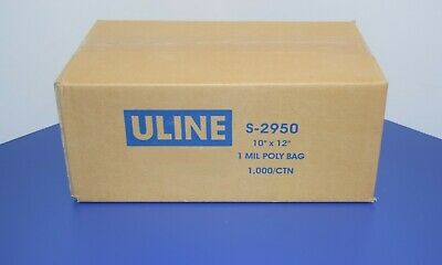 1,000 CLEAR 10 x 12 POLY BAGS PLASTIC LAY FLAT OPEN TOP PACKING ULINE BEST 1 MIL