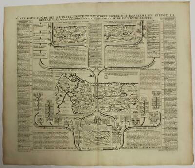 Israel Holy Land Cyprus 1720 Chatelain Antique Original Copper Engraved Map